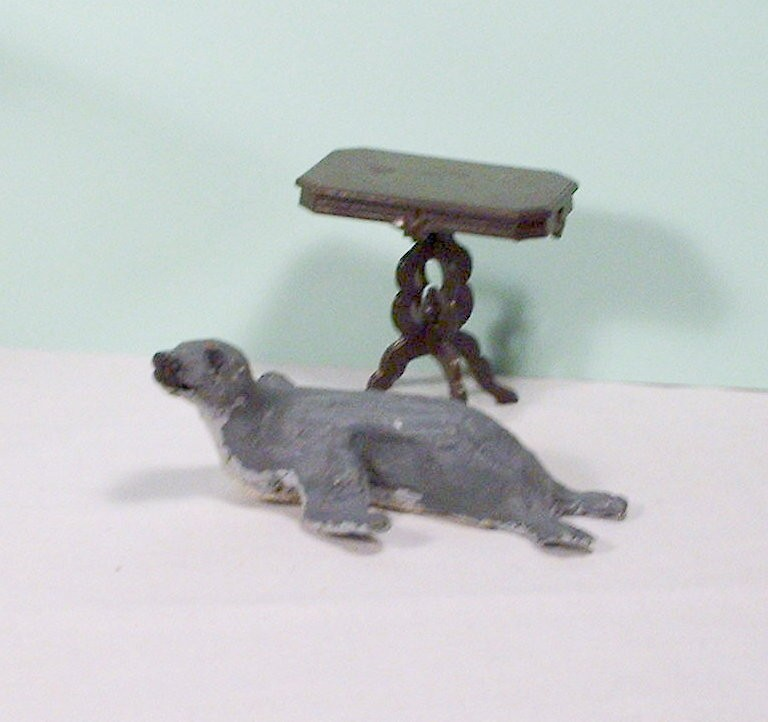 miniature table in the photo is to show scale and is not for sale