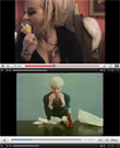&quot;Susan Powter eat a pear...&quot; + &quot;Andy Warhol Eats a hamburger.&quot;