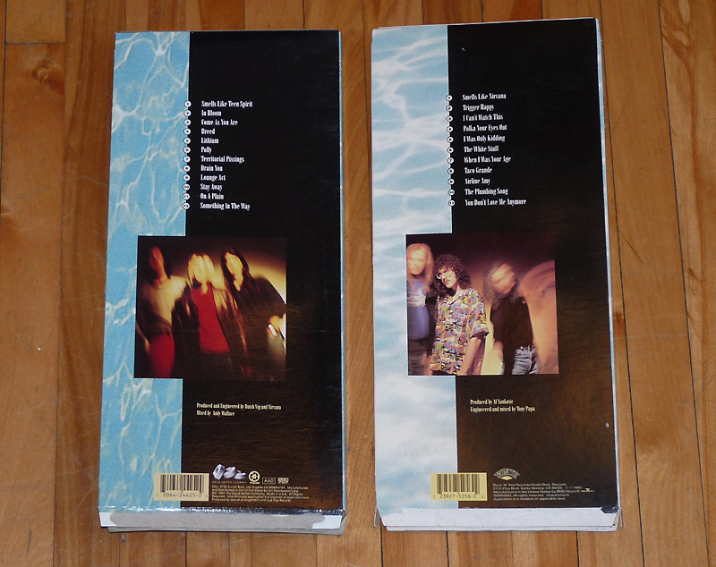 nevermind / off the deep end (cd longboxes)